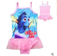 Wholesale Finding Dory Baby Swim Finding Nemo Dory Baby Kids Swimsuit One Pieces Nemo Dory Girls Tutu Dress Bikini Swimwear Beach Bathing Clothes