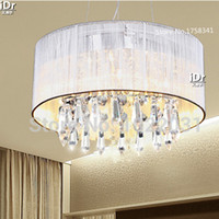 Wholesale Luxury lamp mm Diameter Handmade Cloth K9 Crystal Ceiling Lights Modern Restaurant lights factory outlets free delivery