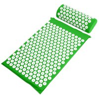 acupressure treatment - Acupressure Spike Yoga Pillow Mat Relieve Stress Pain Relief Health Care Shakti Massager Relaxation Neck Back Pain Treatment