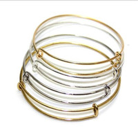 Wholesale Expandable Wire Bangle Bracelet For Beading Or Charm Alex And Ani Bracelets Bangle xpandable Wire Bangles gold silver rose gold new