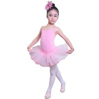 Wholesale Hot sale kids dance dress children Kid girl ballet dress girl ballet dance wear tutu dress Leotard Stage costumes dress baby with headwear