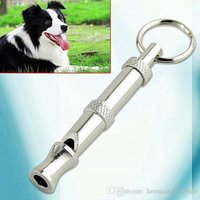 Wholesale High Quality Stainless steel Dog Puppy Whistle Ultrasonic Adjustable Sound Key Training for Dog Pet