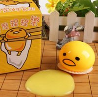 Wholesale Funny decompression toys Funny Gifts yolk brother squeezed happy vomiting Egg yolk lazy egg custard vomiting