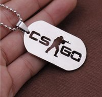 animation counter - 2016 New Animation game csgo stainless steel pendant necklace counter strike global offensive key chain Free transportation