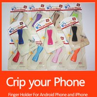 Wholesale Grip Your Phone Universal Cell Phone Finger Holder Elastic Belt Anti Slip for Tablet ipad iphone Samsung Stand with Retail Box DHL Free ship