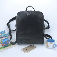 Wholesale Simple Style Designer Women Backpack Black Lady fashion genuine Leather Backpacks Female cowhide bag