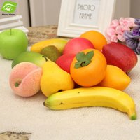 Wholesale 10PCs Plastic Fruit Baby Toys Home Party Decorations Plastic Fruits Vegetable Model