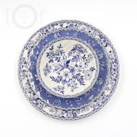 Wholesale UK original single export foreign trade last single johnson brothers Devon blue floral ceramic mug Panwan