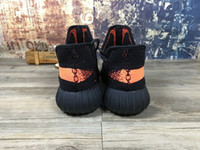 cotton table runner - new Mens yzy Boost V2 Black Orange runner shoes Kanye West sply boots shoes top quality