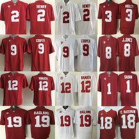 Wholesale cheap Derrick Henry Amari Cooper Ridley Jones Bateman Joe Namath Reggie Ragland Kenyan Drake Alabama Crimson Tide men sport Jerseys