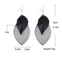 american sheet metal - 520pairs DHL Free Elegant Fasion Jewelry Big Golden Leaf Earrings Black Silver Color For Choose Scrub Metal Sheets Earrings