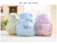 Wholesale Cotton Small Bear Baby Diapers Cartoon Baby Diapers Water Resistable Baby Diapers Sift proof Ventilating Soft Baby Diapers Baby Love