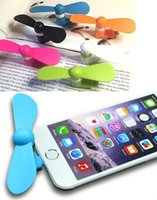 Wholesale Mini USB Fan Pin Flexible Portable Super Mute Cooler Cooling For Android Samsung PhoneS Iphone s S Plus With Package
