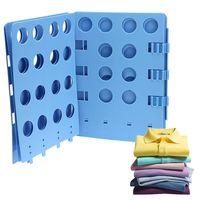 adult shirt folder - Adjustable Magic Fast Folder Laundry Clothes T shirts Folding Board Blue For Adult Kids Garment