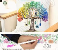 Wholesale 50PCS LJJH1314 New Secret Garden Pillows cover Graffiti DIY Cushion Cover Styles Decorative Throw Pillow Covers