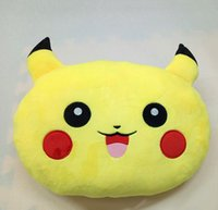Wholesale 2016 New cm Poke plush Pillow Pikachu Pillow Cushion Cartoon Pikachu Stuffed Animals Pillows Dolls EMS Shipping