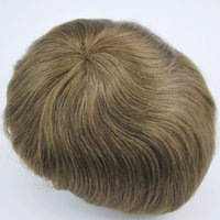 men toupee - stock hand made with human hair quot in length toupee for men pu back and side hair piece