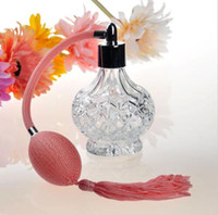 Wholesale Clear Glass Vintage Refillable Empty Perfume Bottle Atomizer Spray Pump Gift