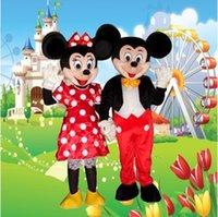Venta directa de fábrica de alta calidad traje de la mascota de Mickey Mouse de la mascota de Mickey Mouse Minnie rendimiento de los ratones del ratón Mickey suministra ropa
