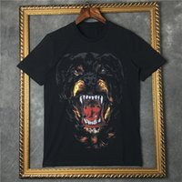 Wholesale fashion brand men new given brand tag clothing Rottweiler print t shirt round t shirt short sleeve tshirt Camiseta