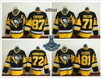 Wholesale 2016 Stanley Cup Champions Pittsburgh Penguins Sidney Crosby Phil Kessel Evgeni Malkin Patric Hornqvist Cheap Hockey Jerseys