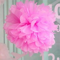 beauty wall paper - 2016 Beauty Tissue Paper Pom Poms mm Flower Wedding Party Home Outdoor Decor