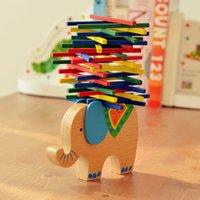 Wholesale Baby Toys Educational Elephant Camel Balancing Blocks Wooden Toys Beech Wood Balance Game Montessori Blocks Gift For Child