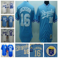 baseball jersey tops - Bo Jackson Jersey Kansas Royals Jersey Throwback Baseball Jersey White Blue Top Quality