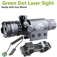 Wholesale Tactical Hunting Adjustable Green Dot Laser Sight Scope Flashlight mm Rail Picatinny Mount Gun Rifle