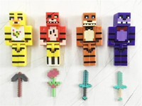 Wholesale building toys mini figures cm Five Nights At Freddy s FNAF Foxy Chica Bonnie Freddy Action Figures Kid Toy Building Block Christmas Gifts