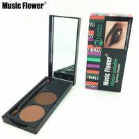 Wholesale 3 color brand Music Flower water soluble eyeliner waterproof eyebrow powder shadow eye brow makeup kit eye liner with brush