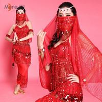 al por mayor ropa mayorista para la danza-Traje de danza del vientre mujer rendimiento de ropa danza india Bollywood conjunto 2015 nuevo diseño 2pcs profesional mayorista MB007