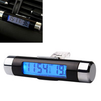 air vent screen - 2 in Car Styling Auto Accessories Thermometer Air Vent Outlet Car Digital Time Clock Portable LCD Display Screen