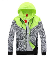 Wholesale 2016 new arrival brand Men s clothes Men s clothing jacket letter big hook hooded Color matching Thin section spring and autumn coat NY48