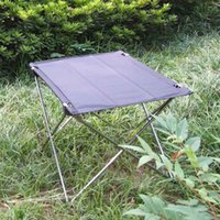 Wholesale Waterproof Portable Foldable Ultra light Aluminium Alloy Table Desk Outdoor Camping Picnic Folding Table Grey