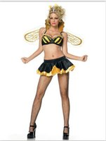 bee lingerie - Women s Sexy Yellow Bee Halloween Fancy Dress Sexy lingerie party costume