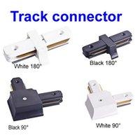 Wholesale LED Track Light T Way Track Light Rail Connectors White Black Contactors Accessories Commercial Lighting Fixtures