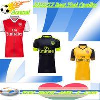 arsenal sleeve - Thai third Away Home short long sleeve red yellow Arsenal Jerseys ALEXIS GIROUD OZIL WALCOTT XHAKA Shirt Wholesalers soccer Jerseys
