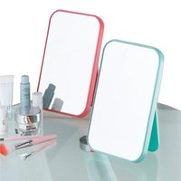 Wholesale High listing face makeup mirror desktop dressing mirror folding portable mirror a large square princess