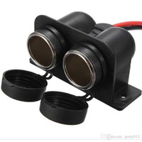 Wholesale DC V Twin Double Dual Waterproof Car Cigarette Lighter Adapter Power Socket LY368