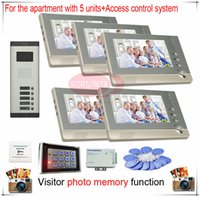 bell storage - Access Control System video door bells intercom systems for apartments with visitor photos storage function