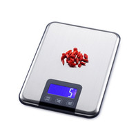 Wholesale 5KG1g Digital Kitchen Scale Slim Stainless Steel KG LCD Electronic Diet Food Touch Grams Scales Weight Balance With Retail Box
