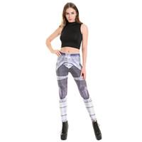 armor pants - Womens Fashion Print Slim Beauty Yoga Leggings For Running Gym Female Armor Printed Leggins Bodycon Sports Fitness Pants Trousers XL