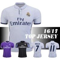 Wholesale Thailand Quality Real Madrid home Away jerseys RONALDO BALE BENZEMA MARCELO MODRIC SERGIO RAMOS shirts