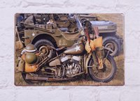 army pubs - quot Cool Army Motorcycles quot Tin Sign Metal Poster Pub Bar Decor Art