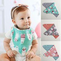 baby boy graphics - Baby bib cartoon animal graphic patterns muffler scarf embroidered baby bibs bib rice pocket sputa cloth cartoon