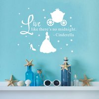 wall quotes - Quote Vinyl Wall Art Decals Live Like There s No Midnight DIY Stars Princess Wall Stickers for Girls Bedroom