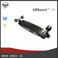 Wholesale Winboard W2 w dual drive brushless in wheel hub motor wireless remote control carbon fiber longboard skateboard with mobile app