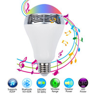 Wholesale Bluetooth speakers LED Color Bulb Light colored bulb By Mobilephone control White Super Bright Light speaker Bulb