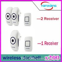 Wholesale 200pcs Wireless Doorbell System feet Range with Chimes for Home Office with LED Light YX ML